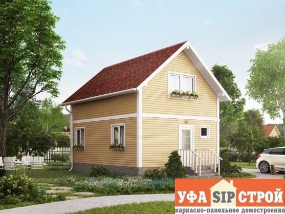 Проект дома из Сип панелей Дачник Уфы