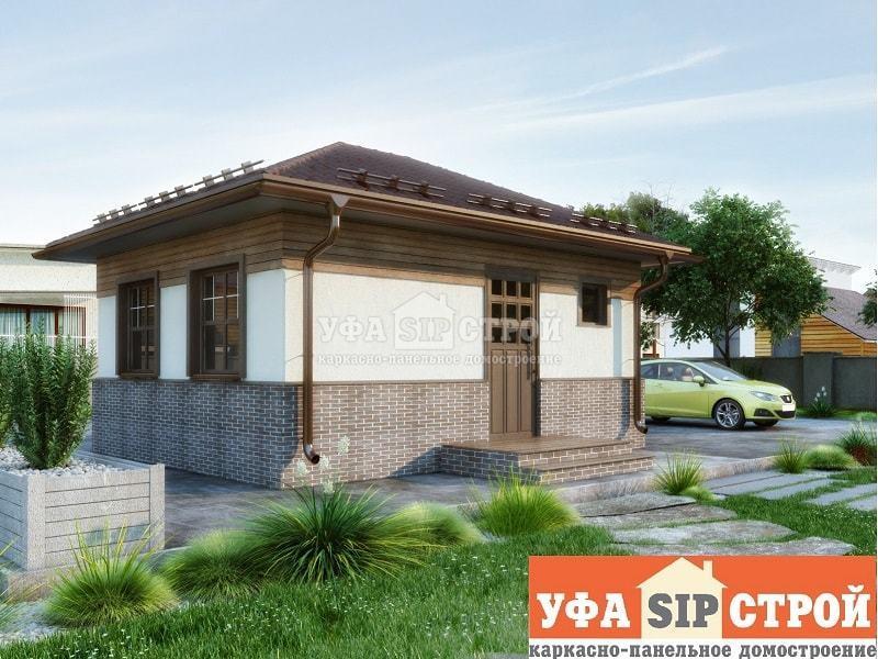 Проект дома из СИП панелей Луиза