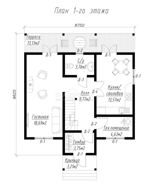 Проект дома из СИП панели «Бирск»