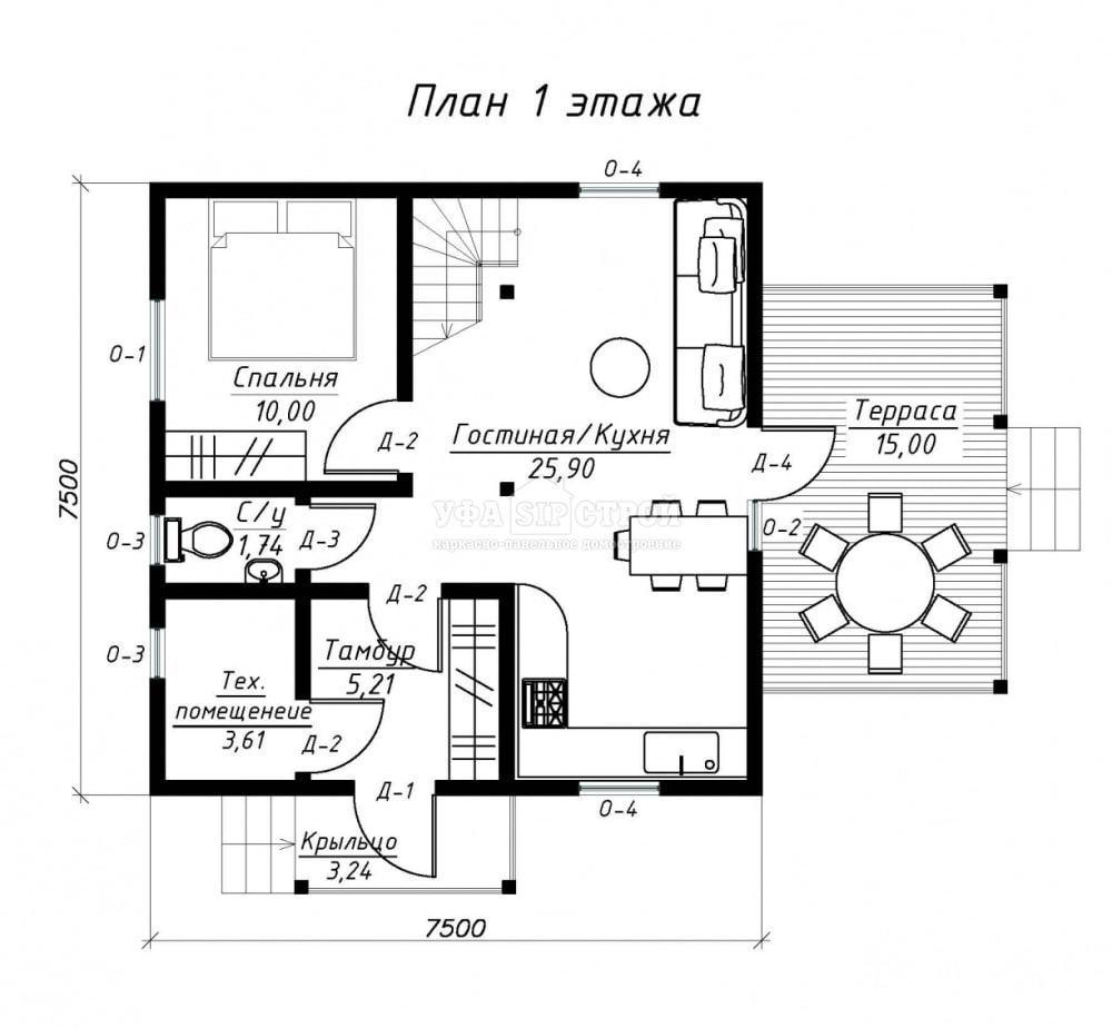 Проект дома из СИП панели «Булгаково»