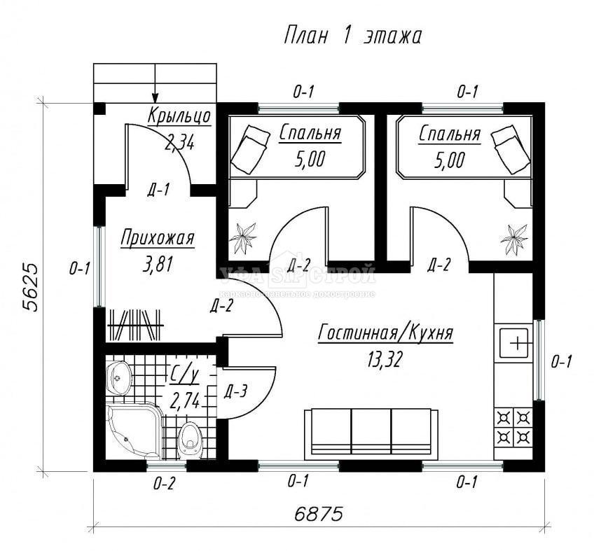 Проект дома из СИП панели «Кармаскалы»