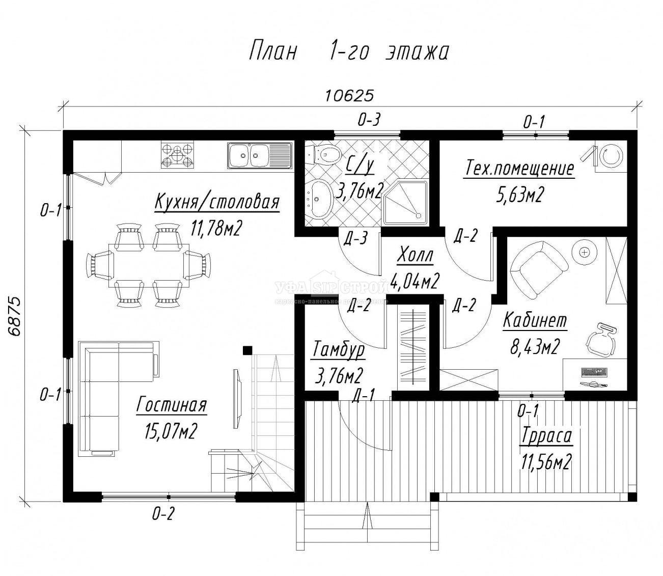 Проект дома из СИП панели «Октябрьск»