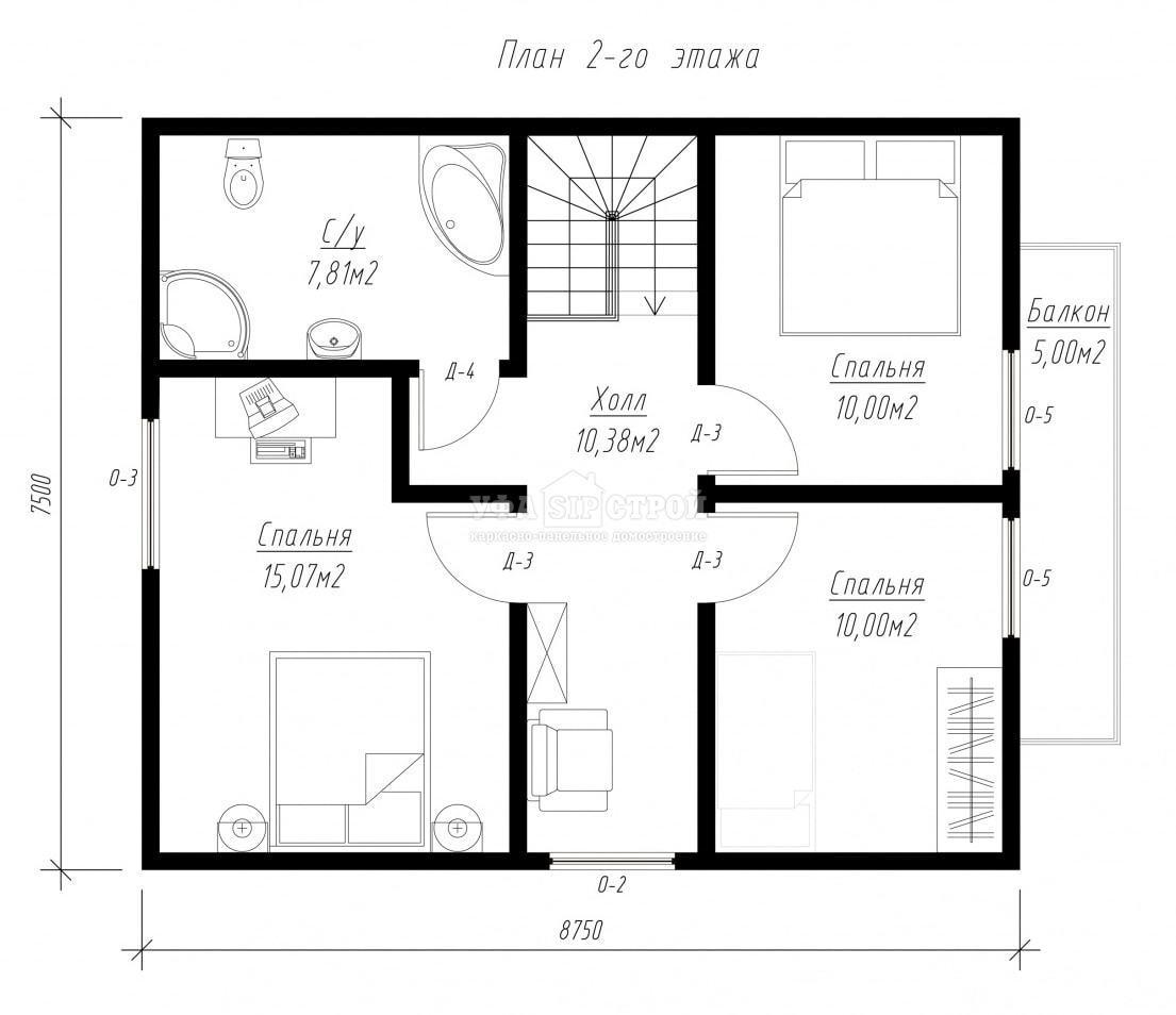 Проект дома из СИП панели «Сибай»