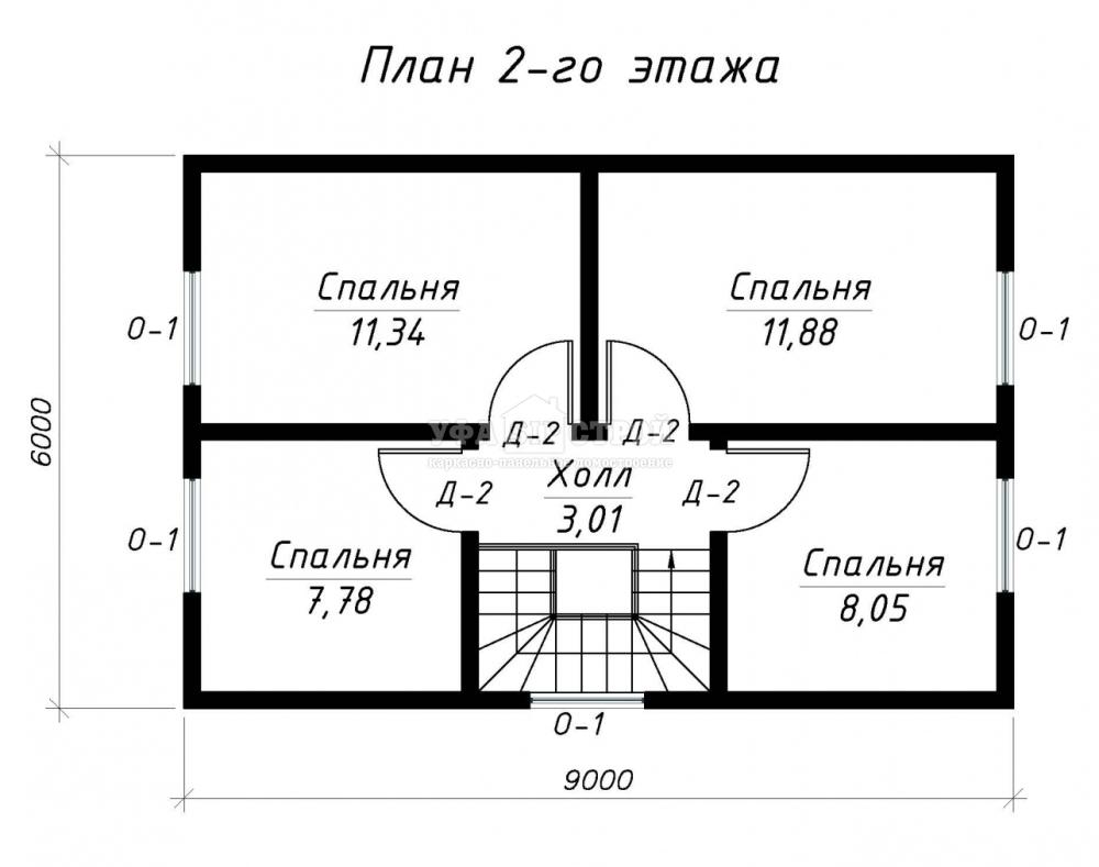 Проект дома из СИП панели «Уфимец»