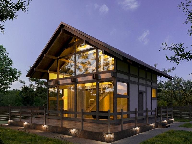 Строительство домов в стиле Фахверк под ключ в Уфе